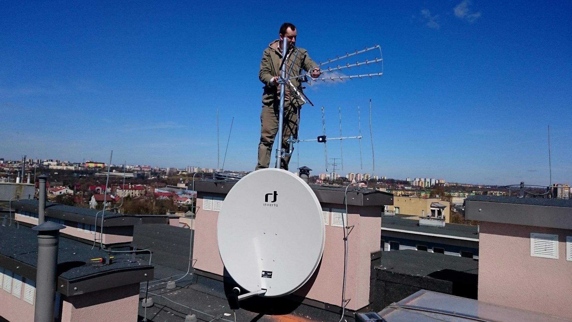 Montaż i ustawianie anten - instalacja zbiorcza Lublin