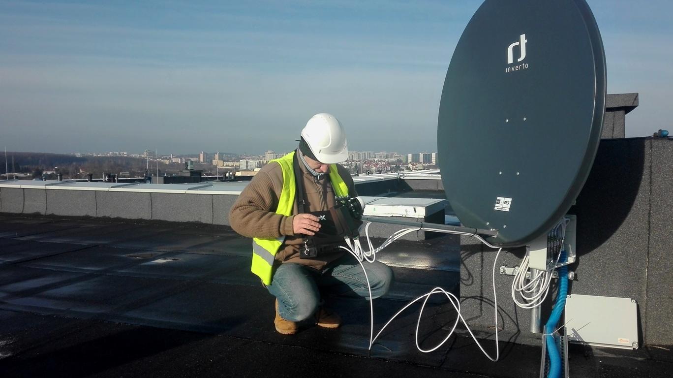 Ustawienie konwerterów i anteny satelitarnej 120 cm
