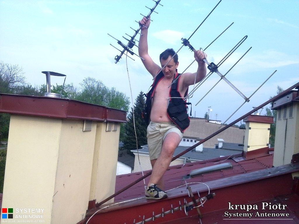 Podczas wymiany anten