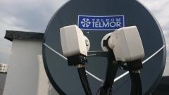 Konwertery Quatro z anteną satelitarną Telkom-Telmor TT120 Alu Premu
