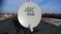 Antena satelitarna nc+ 4K z konwerterem Unicable