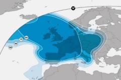 zasięg satelity Astra 2F (wiązka europejska)