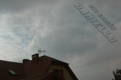 Zamontowana antena DVB-T na dachu - Garbów