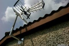 Zamontowana antena DVB-T w kierunku Lublin-Piaski- Garbów