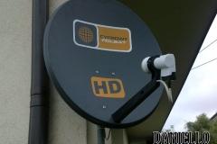 Zamontowana antena SAT Cyfrowego Polsatu - Garbów