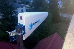 Antena TAJFUN na dachu budynku