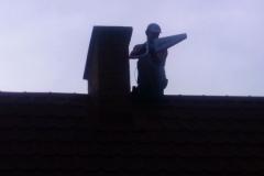 Podczas montażu anteny GSM na dachu domu