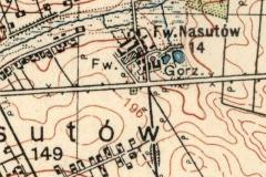 Cmentarz z I wojny w Nasutowie zaznaczony na mapach-WIG