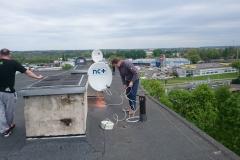 Podczas montażu nc+ na dachu Lublin