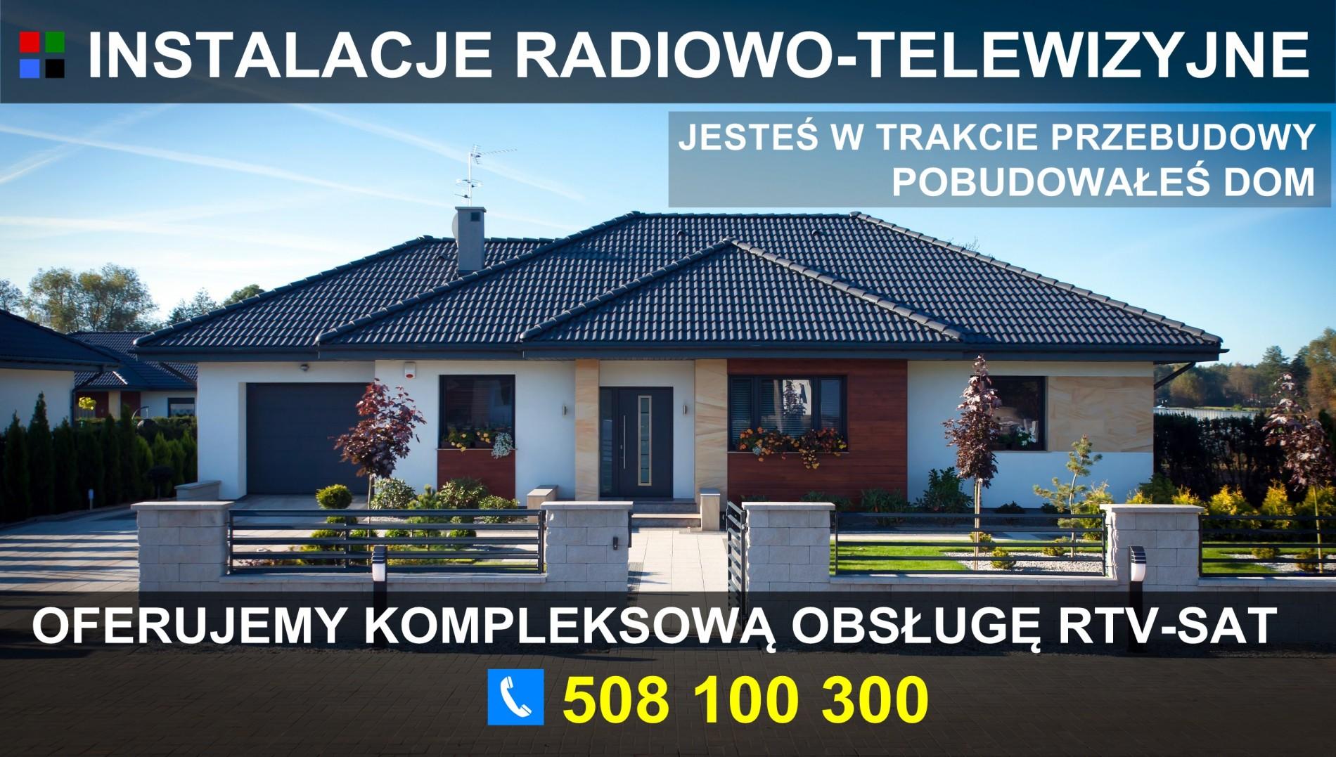 Oferujemy kompleksową obsługę RTV-SAT