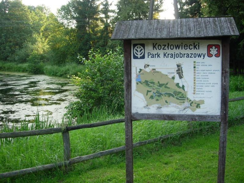 Kozłowiecki Park Krajobrazowy - plansza