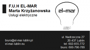 FIRMA ELEKTRYCZNA - WYKONAWSTWO POMIARY - ELMAR - LUBLIN