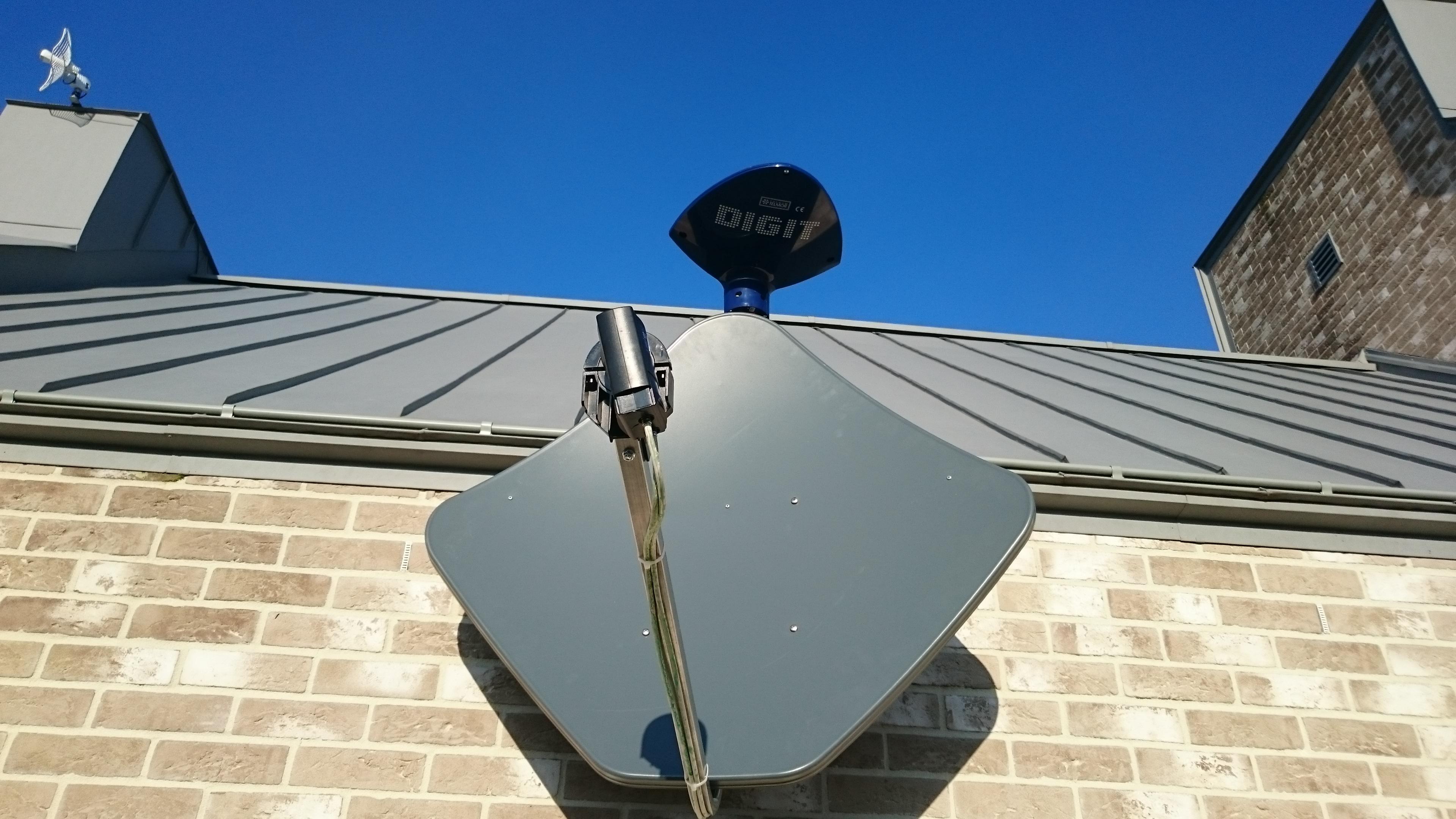 Antena satelitarna + antena DIGITactivaTelmor