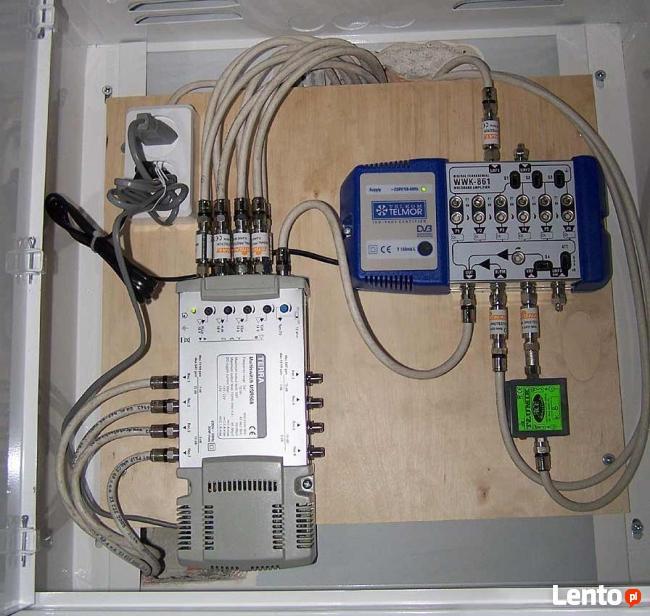 Skrzynka instalacji zbiorczej tv-sat