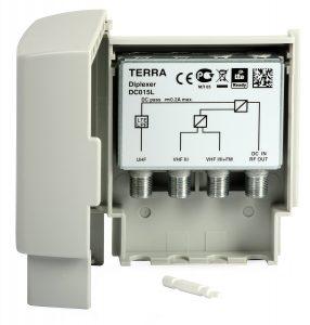 Zwrotnica antenowa DC015L VHFI/II+FM-VHFIII-UHF Terra