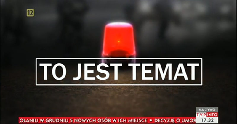 Program interwencyjny TVP INFO w Niemcach ws. obwodnicy