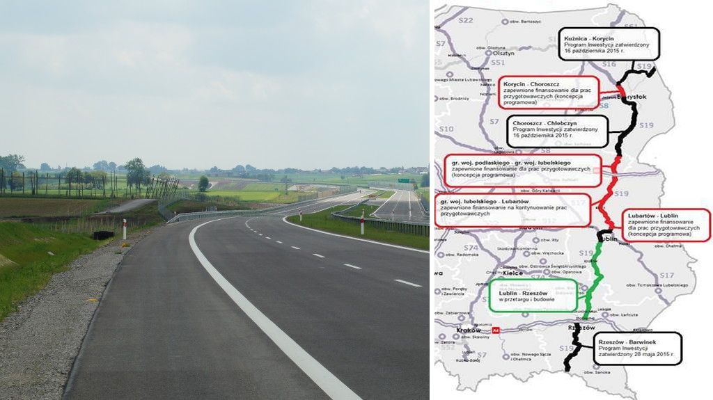 Będzie ekspresówka z Lublina przez Lubartów w stronę Białegostoku.