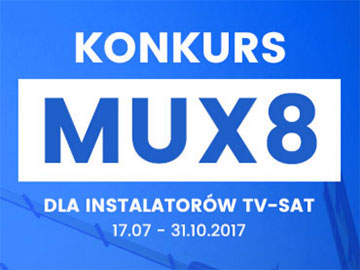 Konkurs MUX 8 dla instalatorów tv-sat