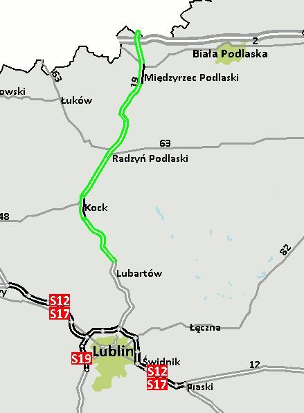 Ruszają prace nad koncepcją dla S19 na północ od Lubartowa