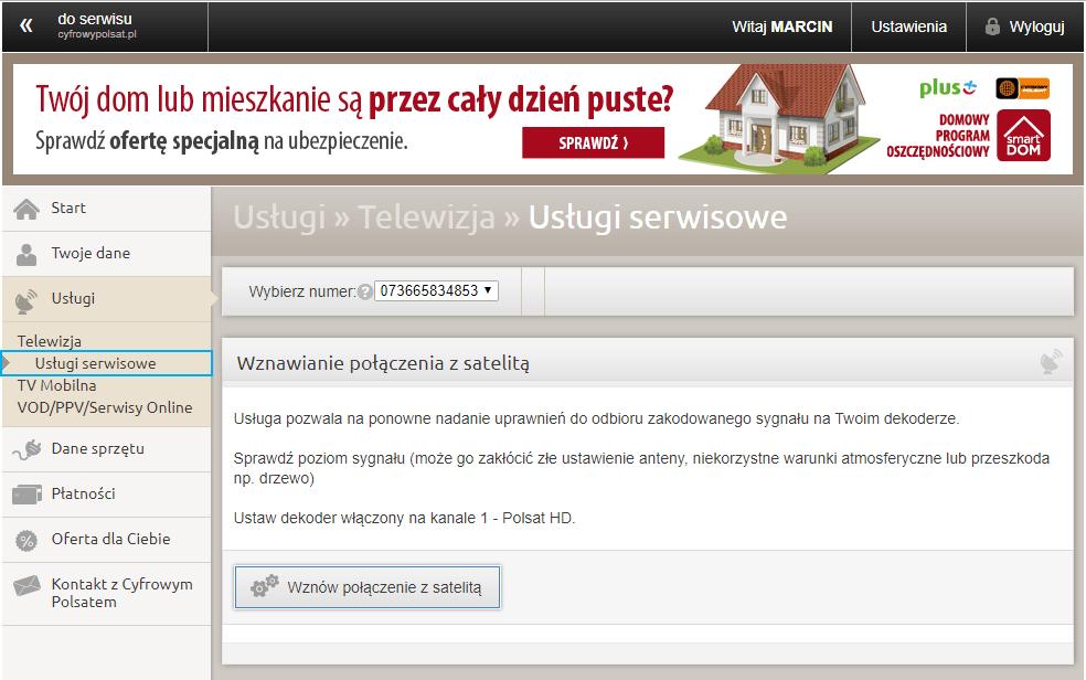 Instrukcja aktywowania dekodera satelitarnego Cyfrowego Polsatu