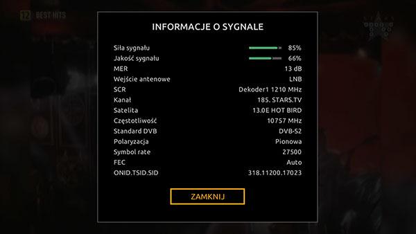 Informacje o sygnale Cyfrowy Polsat HD 6000