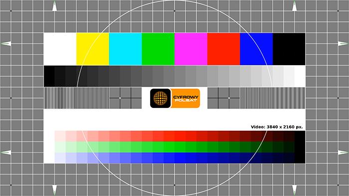 Cyfrowy Polsat testuje ósmy tp. na 13°E! Test 4K