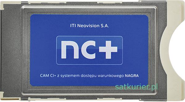 Wygląd modułu CAM CI+ od nc+