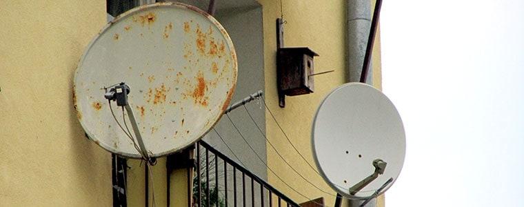 Uwaga na montaże talerzy satelitarnych bez pomocy specjalisty