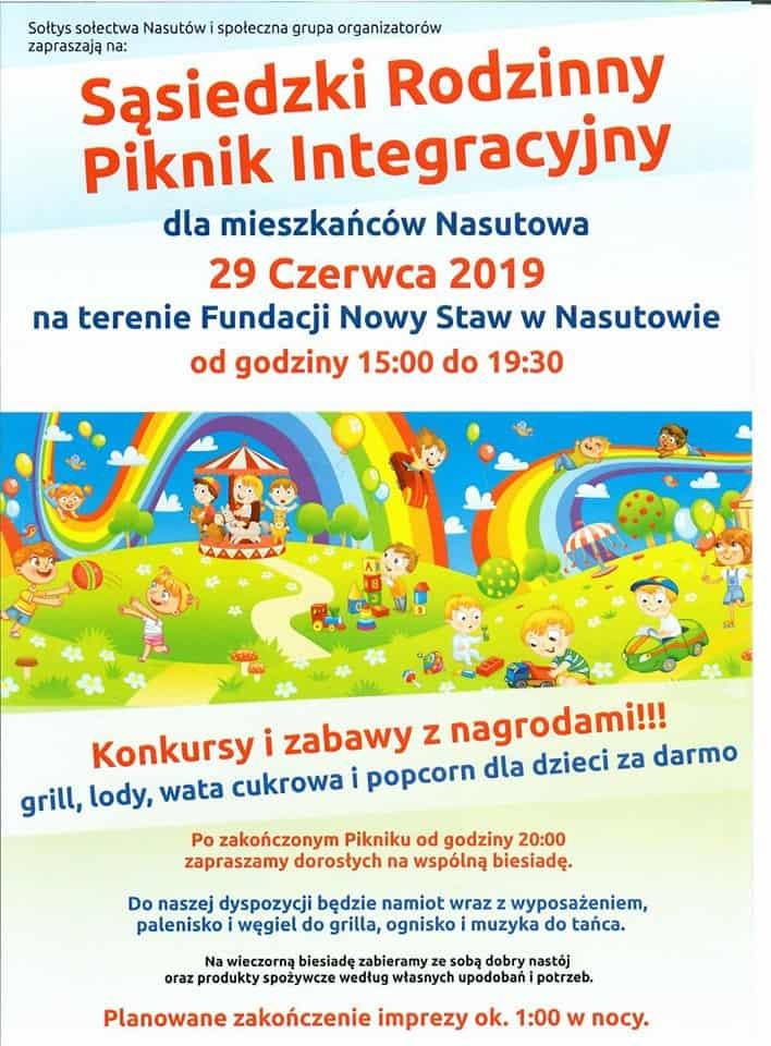 Sąsiedzki Rodzinny Piknik Integracyjny - Nasutów 29 Czerwca 2019