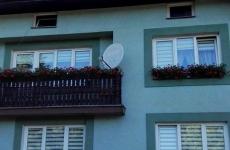 Montaż anteny satelitarnej z układem zez Astra + Hot Bird = 2 x TNK