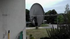 Dwie anteny na jednym uchwycie