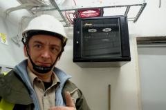 Podczas codziennych prac na budowie