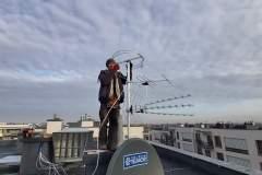 Podczas montażu anten zbiorczych - Lublin