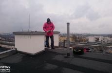 Podczas prac na dachu instalacja zbiorcza Lublin