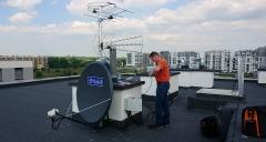 Przygotowanie przewodów do podłączenia na dachu - Lublin