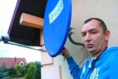 Montaż anteny satelitarnej Telkom-Telmor