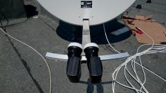 Montaż zeza na antenie satelitarnej
