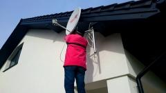 Podczas montażu anteny satelitarnej