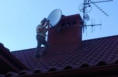 Regulacja anteny sat po burzy wiatrowej