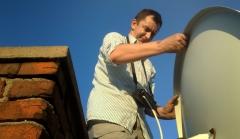 Ustawienie anteny sat na dachu- Niemce