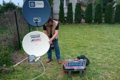 Ustawienie anteny telewizji satelitarnej oraz internetu SkyDSL
