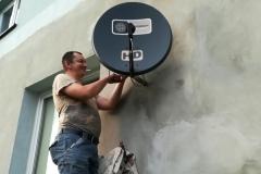 Wymiana konwertera oraz ustawienie anteny satelitarnej - Niemce