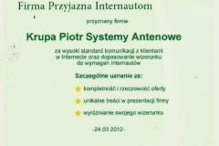 Certyfikat Firmy-net