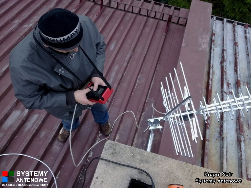 Pomiar sygnału DVB-T na dachu