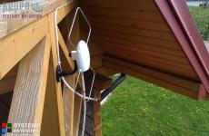 Antena Signal na balkonie drewnianego domku - Wola Niemiecka