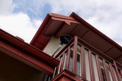 Antena Telmor zamontowana na balkonie
