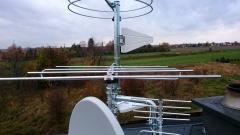 Antena do mux8 zamontowana na maszcie