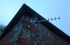 Antena kierunkowa 16 elementowa na ścianie budynku - Nasutów