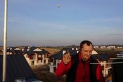 Balon w tle podczas ustawiania anteny DVB-T