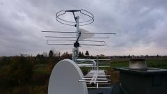 Komplet anten telewizyjnych satelita +naziemnych